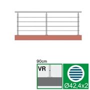 Nerezové zábradlí VR L3000, D42,4/4xl5/H900