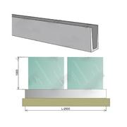 Nerezové zábradlí celoskleněné Al profil VK AL/16,76/H1100/L2500mm