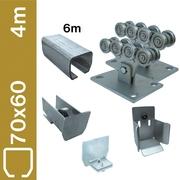 Sestava spodního vedení pro brány do 4m, Zn, 70x60mm