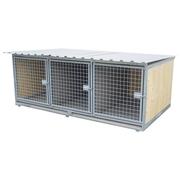 Odstavný box pro psy, 3 místa
