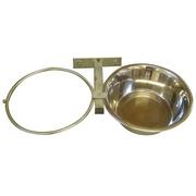 Miska pro psa 2 ks,4 l, s držákem do kotce