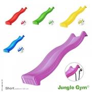 Plastová skluzavka Jungle Gym s přípojkou na vodu krátká