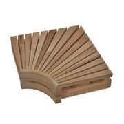 Rohový díl lavice TermoWood - 60x60cm