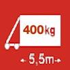 Délka/hmotnost 5,5m/400kg