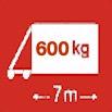 Délka/hmotnost 7m/600kg