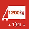 Délka/hmotnost 13m/1200kg